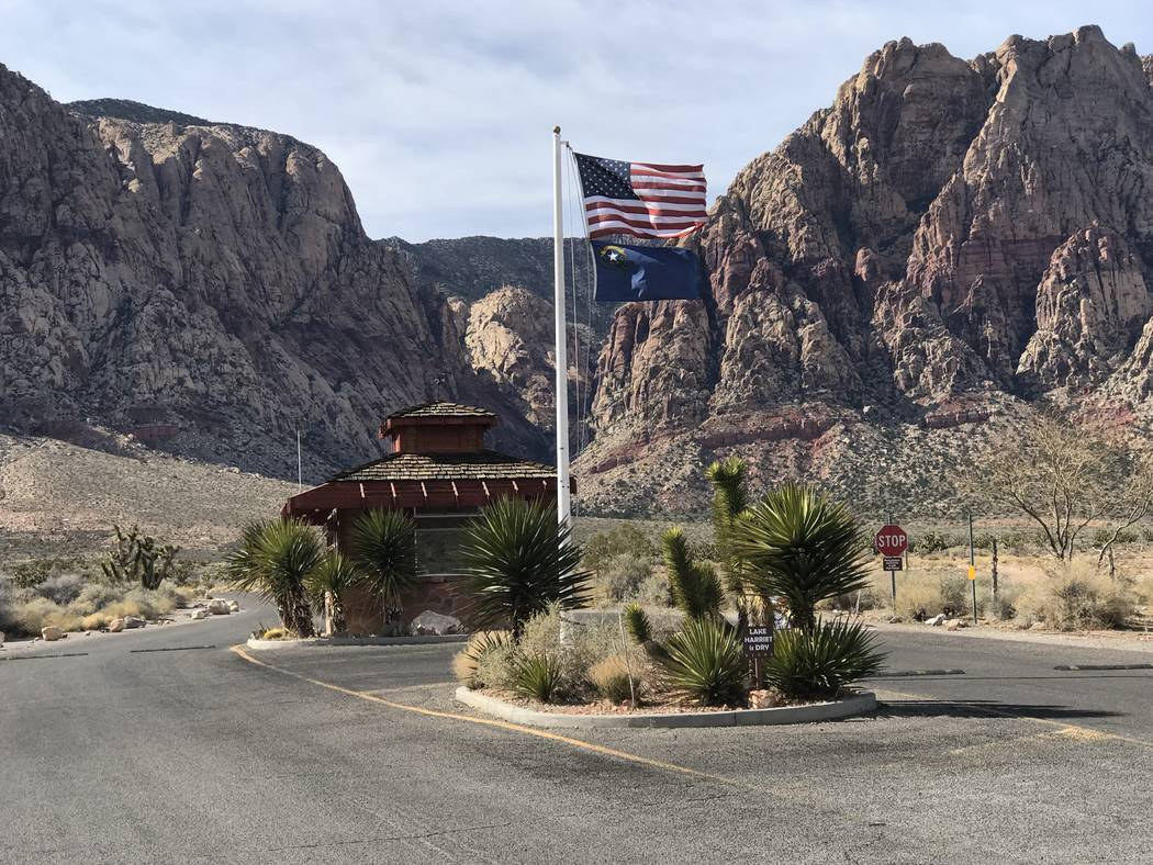 Jeffrey Meehan/Pahrump Valley Times  Entrance of the Spring Mountain Ranch State Park on Feb. 26, 2018. A Clark County organization puts on a monthly event to teach adults and children how to perf ...