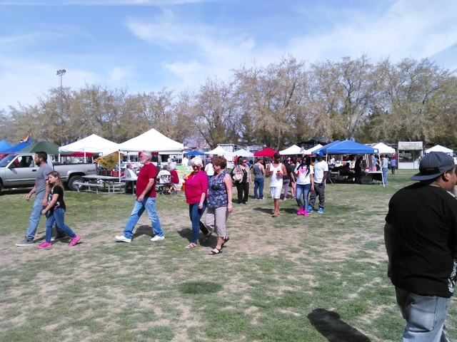 Selwyn Harris/Pahrump Valley Times Crowds at Petrack Park for the annual Silver State Chili Cook-off as shown in 2016. The 2018 event is this weekend at the park.