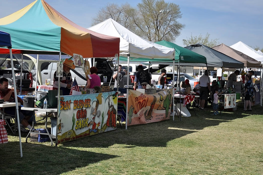 Horace Langford Jr. / Pahrump Valley Times  The Silver State Chili Cook-off as shown in 2017 as part of an event featuring local amateur entries and professional entries from the International Chi ...