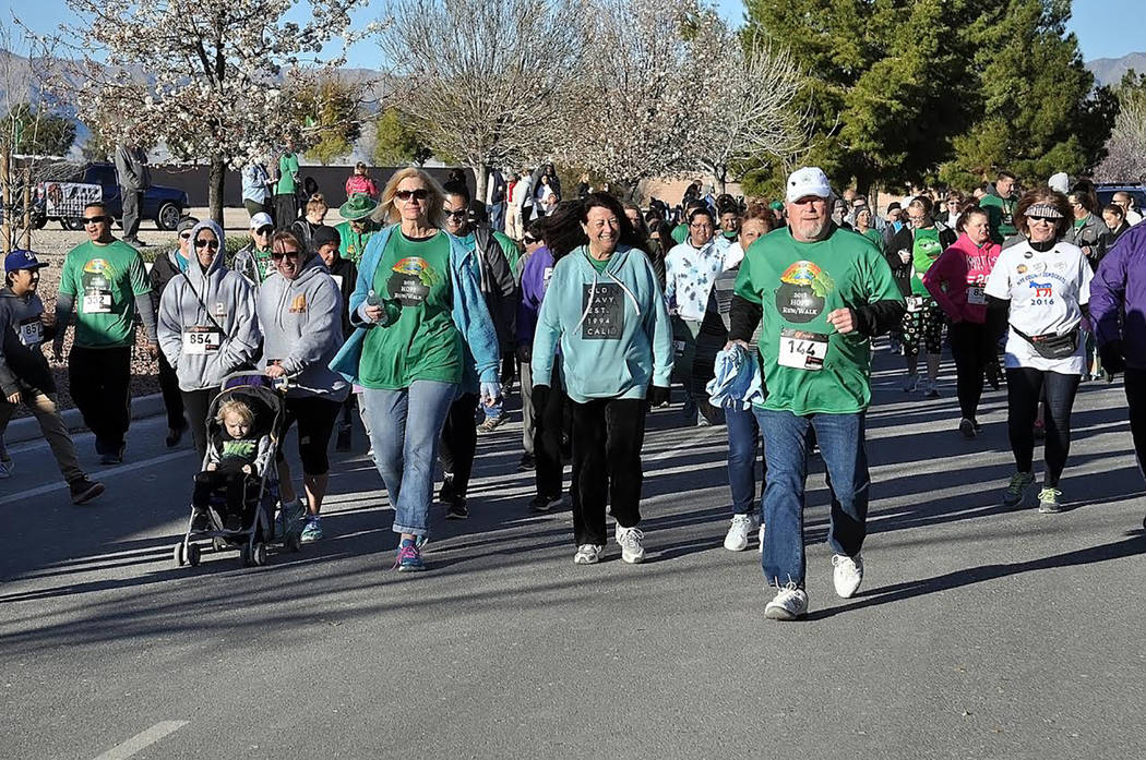 Horace Langford Jr./Pahrump Valley Times The 2018 HOPE Run/Walk took place at Mountain Falls on Saturday, March 17. More than 500 people gathered for the early morning activity, many dressed in th ...
