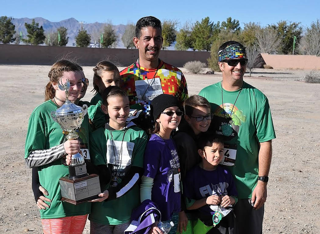Horace Langford Jr./Pahrump Valley Times  For the past two years, the HOPE Cup has gone to Floyd Elementary School but this year the team, members of which are shown, handed it over to Rosemary Cl ...