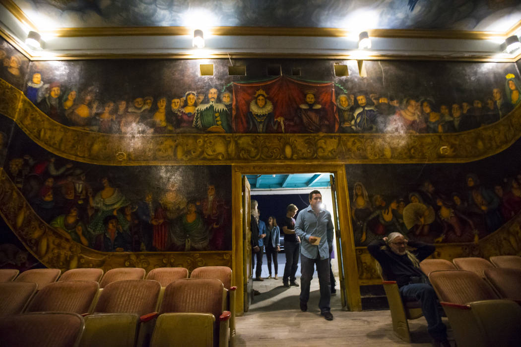 Attendees arrive for the season-opening performance at the Amargosa Opera House in Death Valley Junction, Calif. on Friday, Oct. 20, 2017. Chase Stevens Las Vegas Review-Journal @csstevensphoto