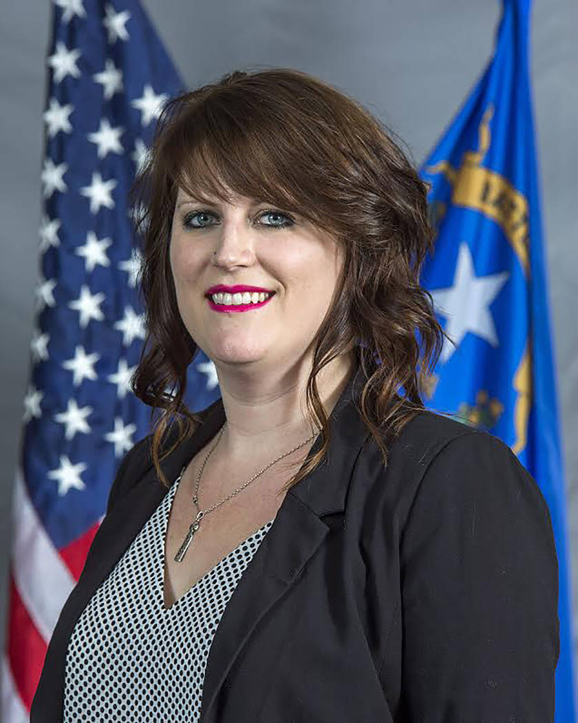 Special to the Pahrump Valley Times Nye County Comptroller Savannah Rucker discussed the county's plans to update its fleet of county vehicles.