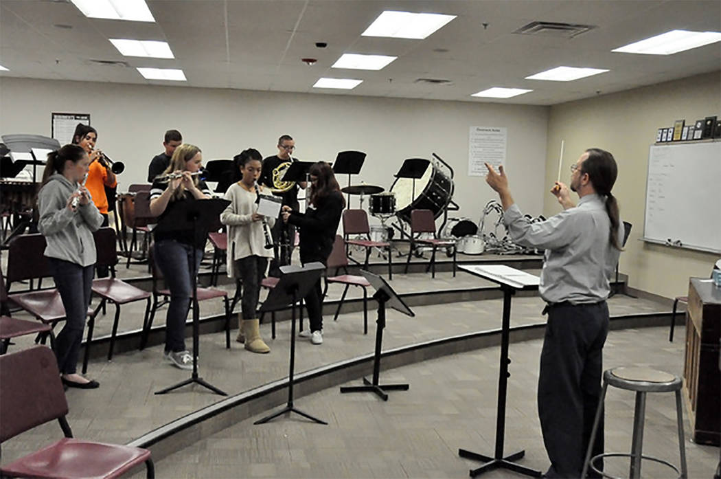 Selwyn Harris/Pahrump Valley Times Just a handful of high school bands around the country have been asked to perform at the Pearl Harbor 75th anniversary observance this December. Pahrump Valley H ...