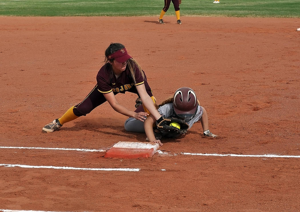 Horace Langford Jr./Pahrump Valley Times The Pahrump Valley softball team will spend the weekend at the prestigious Centennial Springl Jamboree at Majestic Park in Las Vegas, an event featuring 44 ...