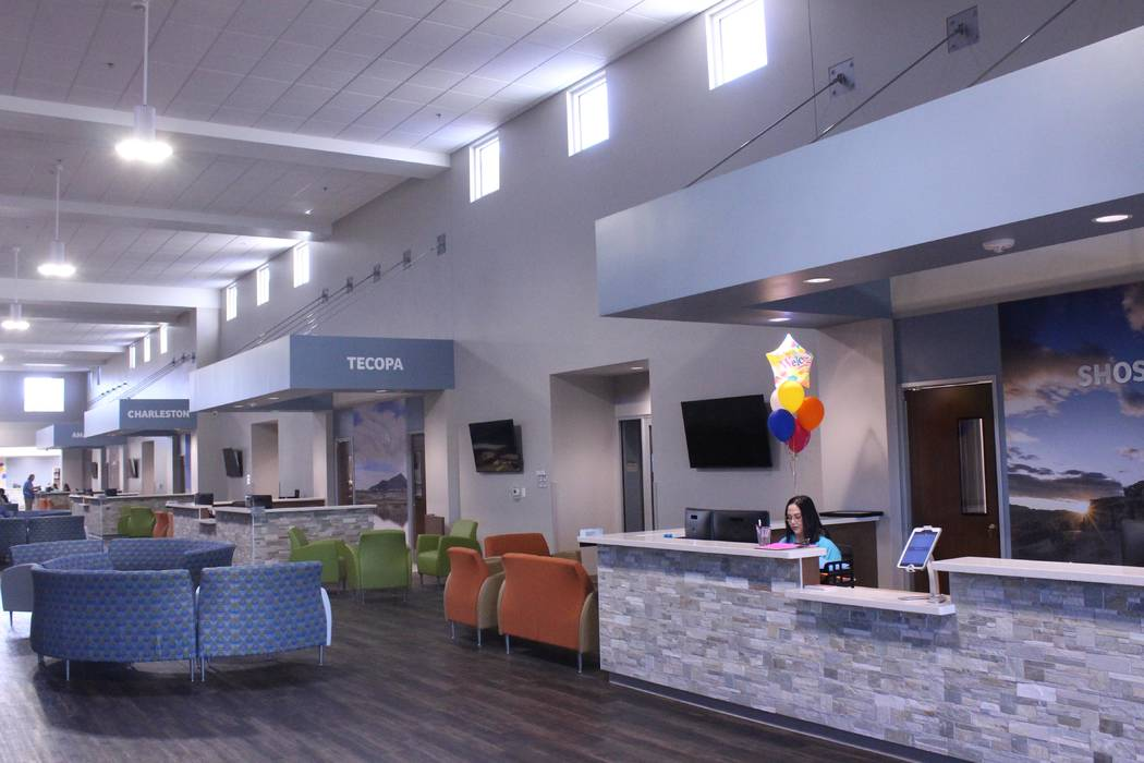Jeffrey Meehan/Pahrump Valley Times HealthCare Partners, a DaVita Medical Group, opened its new 58,000-square-foot building in 2017. The HealthCare Partners' label, along with the new building, we ...