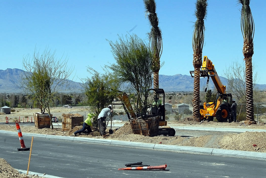 Horace Langford Jr./Pahrump Valley Times At build-out, Mountain Falls is expected to have over 3.200 homes by the project's developer William Lyon Homes. An array of neighborhoods has been buil ...
