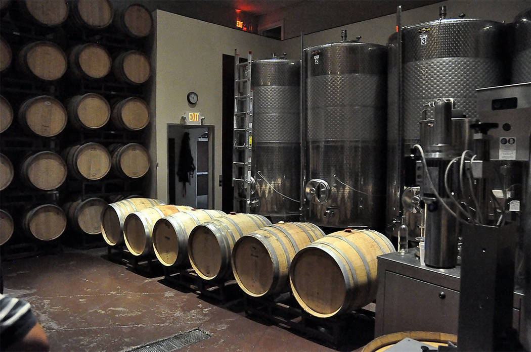 Selwyn Harris/Pahrump Valley Times Pahrump Valley Winery's new 7,000 square-foot addition will provide for all new equipment from top to bottom, including tanks, a bottling line, and pressing equi ...