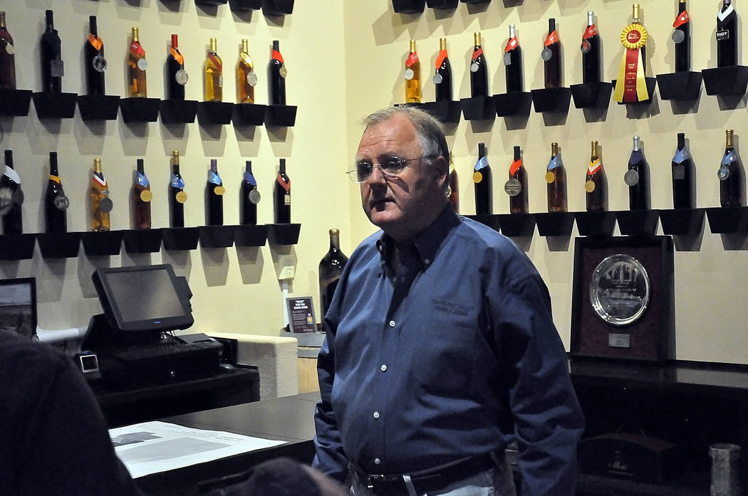 Horace Langford Jr./Pahrump Valley Times Bill Loken, owner of Pahrump Valley Winery, speaks about his expansion plans from his operations at 3810 Winery Road on June 21, 2017.