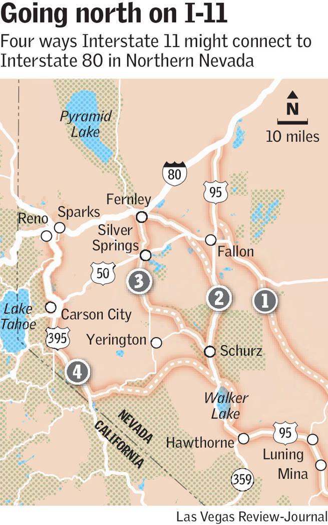 interstate 11 in northern Nevada