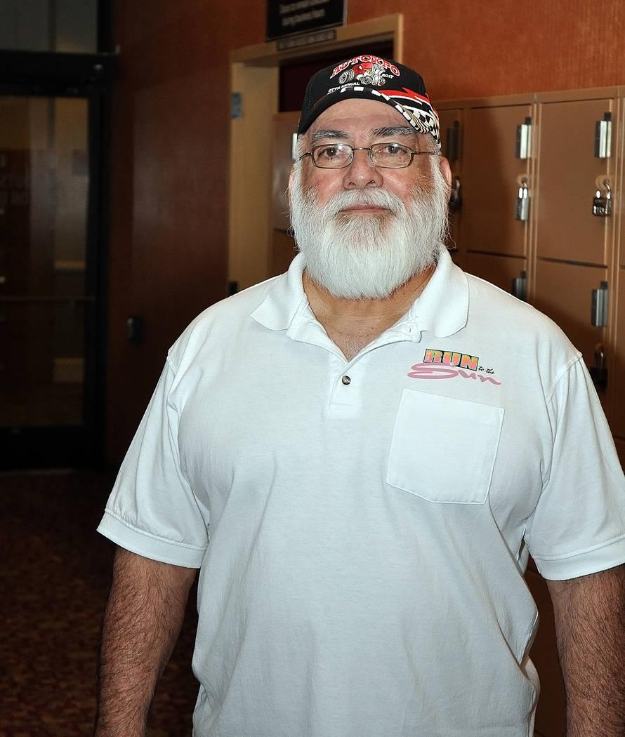 Horace Langford Jr./Pahrump Valley Times Pahrump resident Frank Medina poses Wednesday at the Pahrump Nugget Bowling Center.