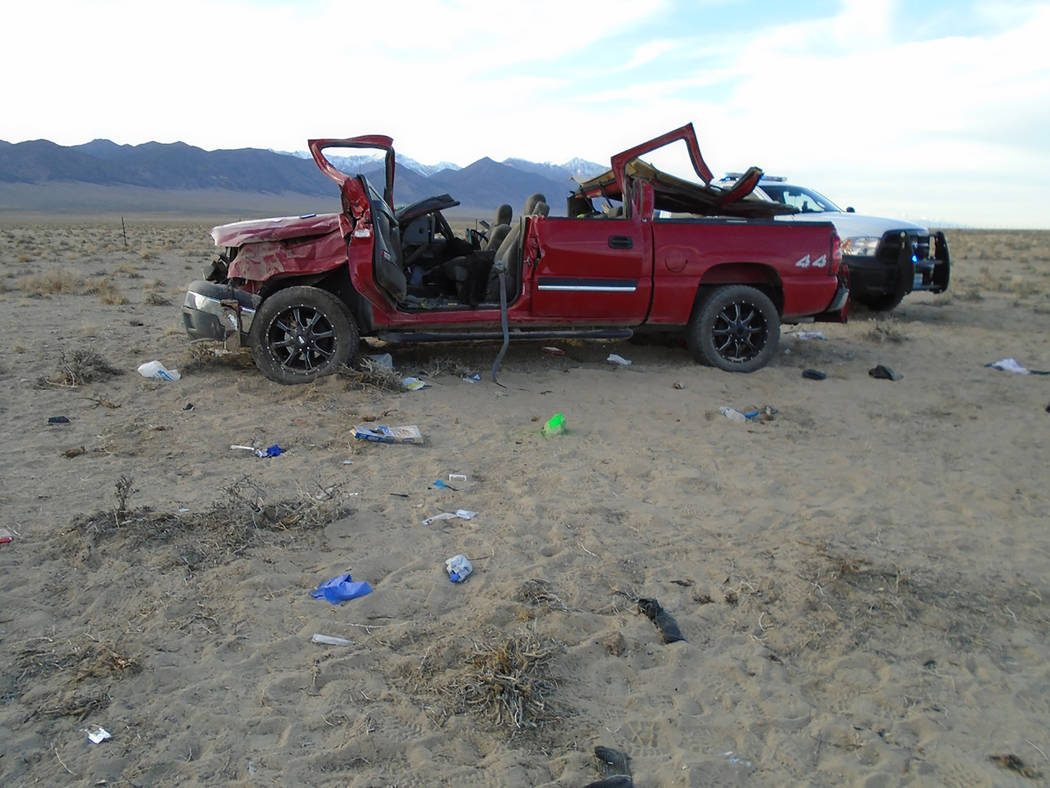 Nevada Highway Patrol Pickup truck driver Robert Lewis Cox, 47, of Hawthorne was pronounced dead at the scene March 29 along Nevada Highway 376 south of Round Mountain and between Tonopah and Aust ...