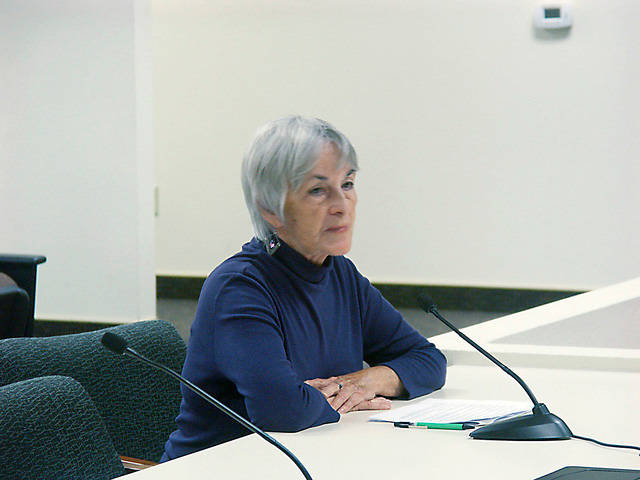 Special to the Pahrump Valley Times Nevada Rural Counties RSVP Field Representative Jan Lindsay is shown announcing her retirement from that post in 2016 but she did not stay away long. Lindsay i ...