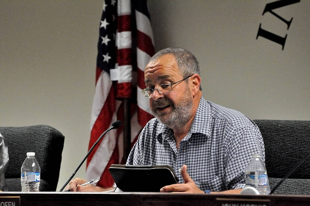 Horace Langford Jr. / Pahrump Valley Times Nye County Commissioner Dan Schinhofen has initiated a cost-determining process to help tease out the concept of the county building and maintaining a lo ...