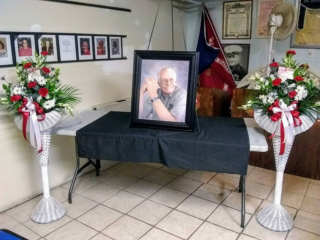 Special to the Pahrump Valley Times Pahrump veteran and business owner Kenneth James Wilkinson was remembered during a memorial ceremony at Pahrump's VFW Post 10054 on March 31. Wilkinson passed a ...