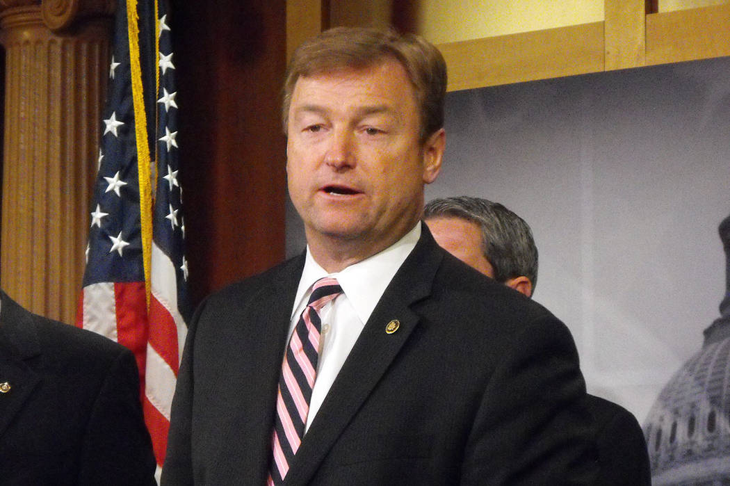 Special to the Pahrump Valley Times Sen. Dean Heller, R-Nev, speaks on the potential firing of special counsel Robert Mueller by President Donald Trump, the inquiry of Facebook CEO Mark Zuckerberg ...