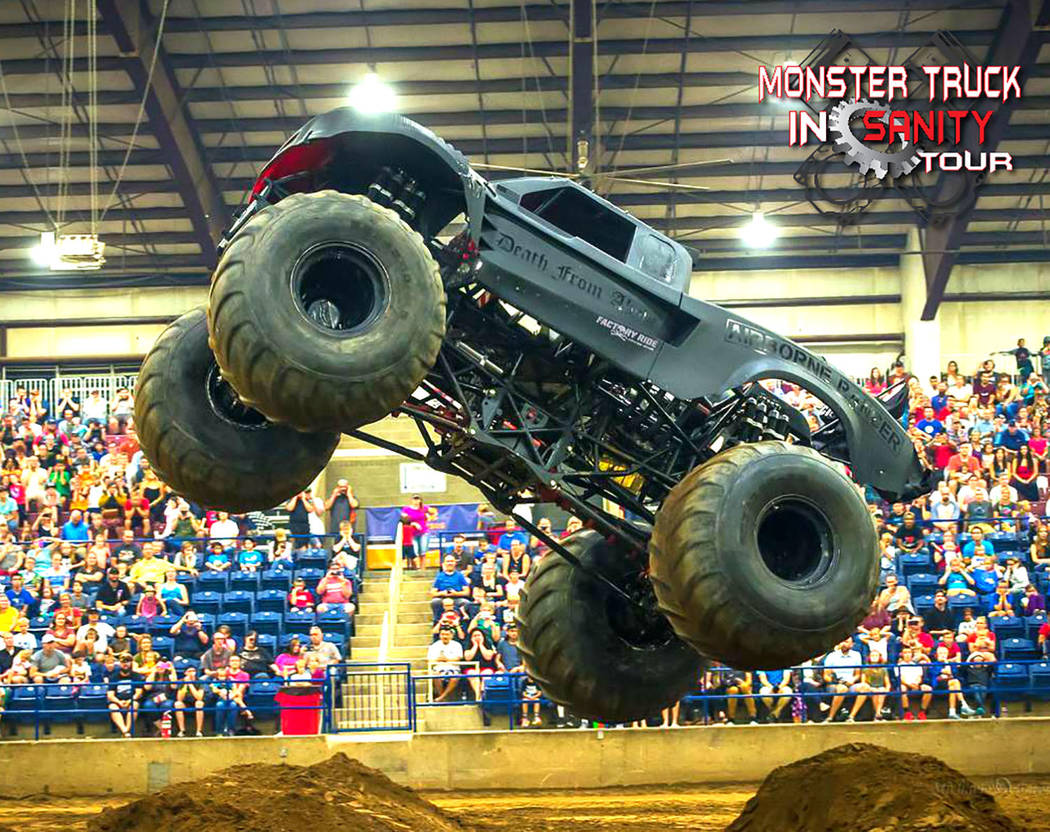 Live A Little Productions/Special to the Pahrump Valley Times The Monster Truck Insanity Tour will make a stop in Pahrump for two shows Saturday, April 21, at McCullough Arena.