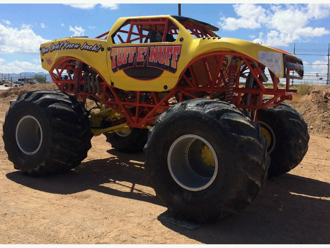 Live A Little Productions/Special to the Pahrump Valley Times Monster truck fans will get the chance to see the trucks up close and meet the drivers before each show Saturday, April 21, when the M ...
