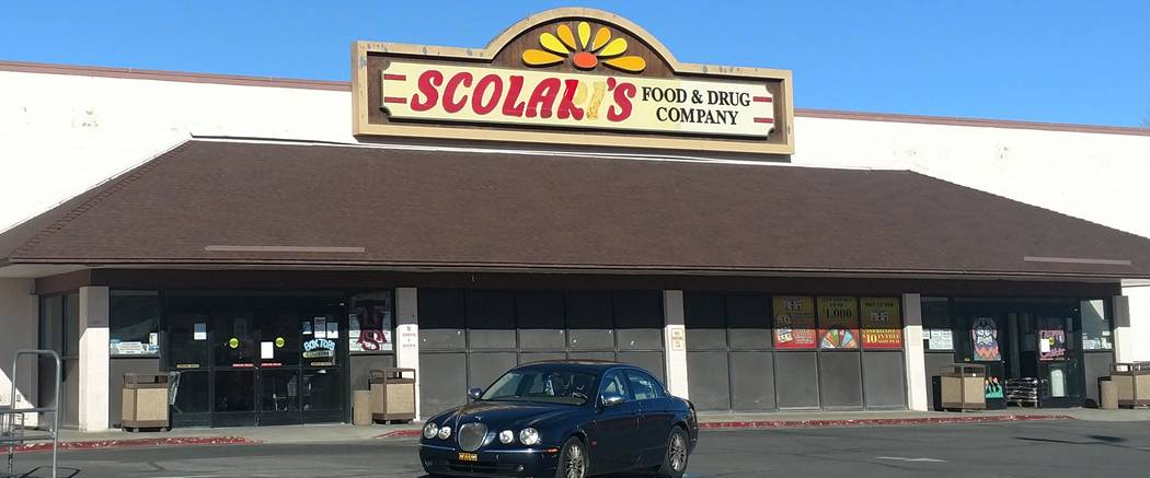 Melissa Roberts/Pahrump Valley Times Scolari's Food & Drug Co. at U.S. Highway 95 and Airforce Road on March 27, 2018. The location is one of six Nevada supermarkets owned by the brand to be s ...