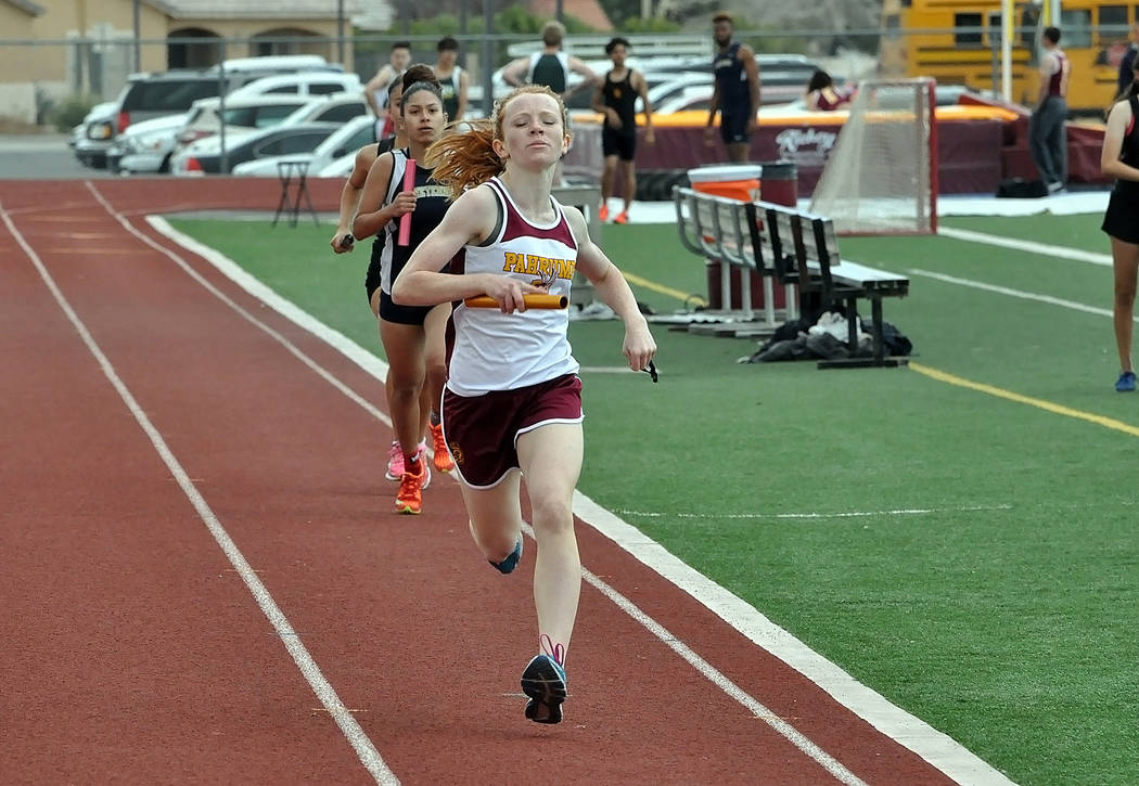 Horace Langford Jr./Pahrump Valley Times Pahrump Valley athletes will have an excellent chance to post qualifying times for the postseason this weekend at the Skyhawk Invitational at Silverado Hig ...