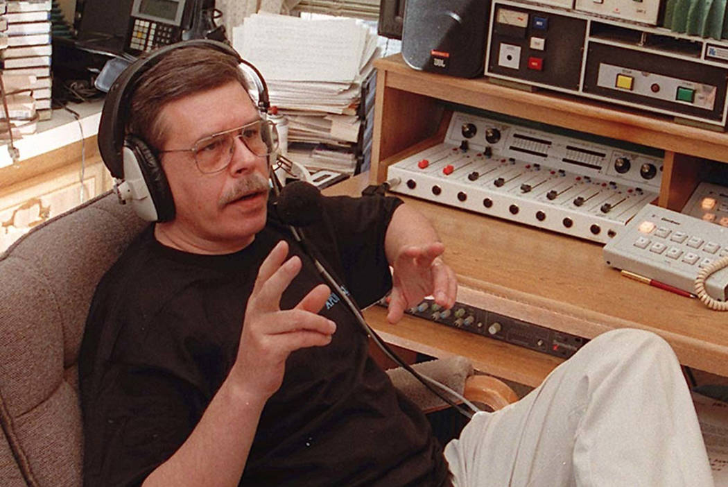 Art Bell seen at at his home in Pahrump in 1996. (Las Vegas Review-Journal)