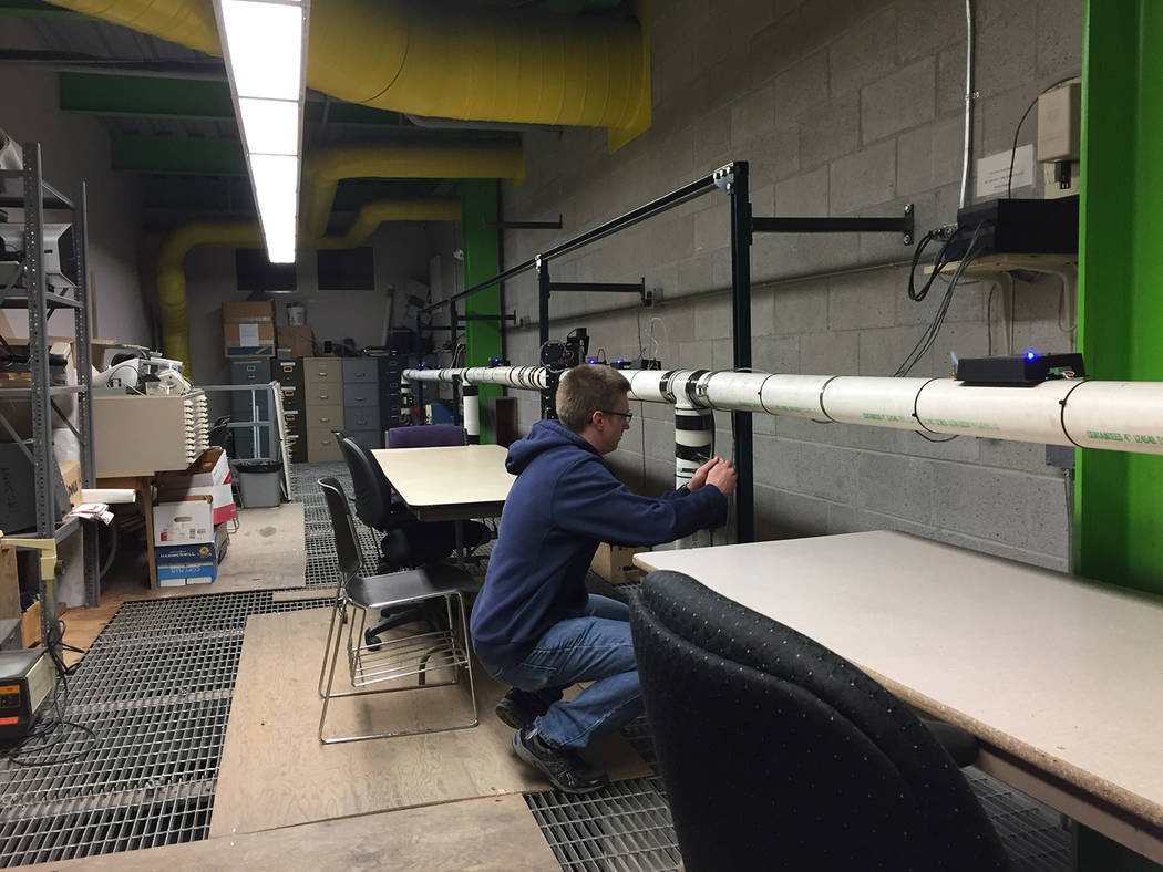 University of Nevada, Reno Evan Klouse works on ventilation-on-demand model in Newmont Ventilation Lab. Klouse is graduating with a 4.0 GPA, May 2018, and accepted a position as a Mining Engineer ...