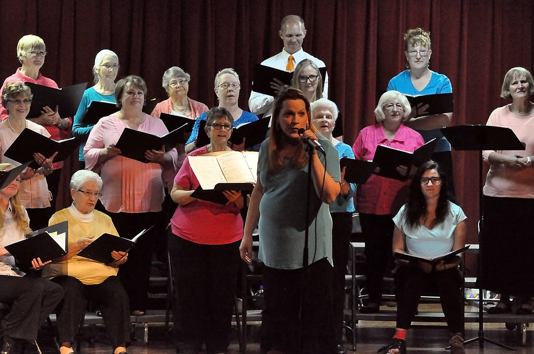 "Horace Langford Jr./Pahrump Valley Times ""It's a Wonderful World"" was the theme of the High Desert Chorale's annual spring concert April 12. This year's performance was in Pahrump Valley Hi ..."