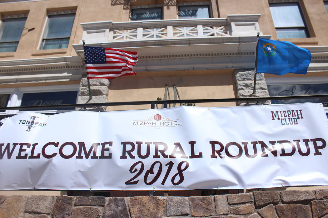 Jeffrey Meehan/Pahrump Valley Times Dozens showed for the Rural Roundup conference in Tonopah from April 11-13 for Nevada's rural tourism industry. The annual conference was organized by the Nevad ...