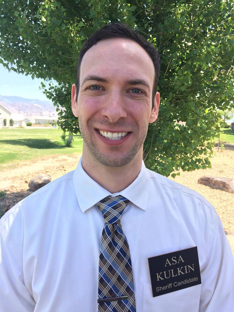 Robin Hebrock/Pahrump Valley Times Nye County Sheriff candidate Asa Kulkin.