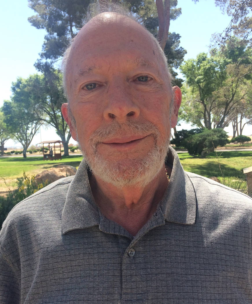 Robin Hebrock/Pahrump Valley Times Nye County Public Administrator candidate Oren Hampton is running against Stumne with a desire to serve the community.