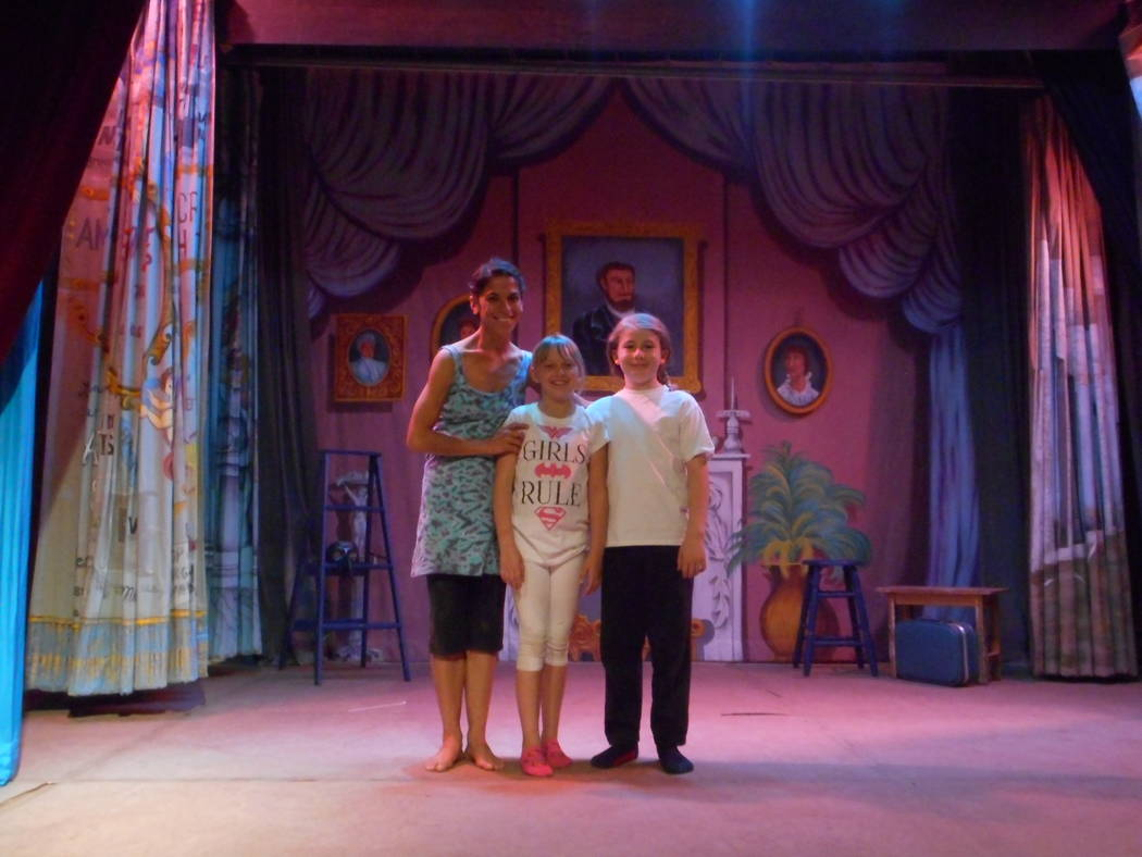 Robin Flinchum/Special to the Pahrump Valley Times Jenna McClintock, Samuel Fann, and Madison Messer. Teatro El Grande was designed as a mobile show, McClintock said, and made its debut in a large ...