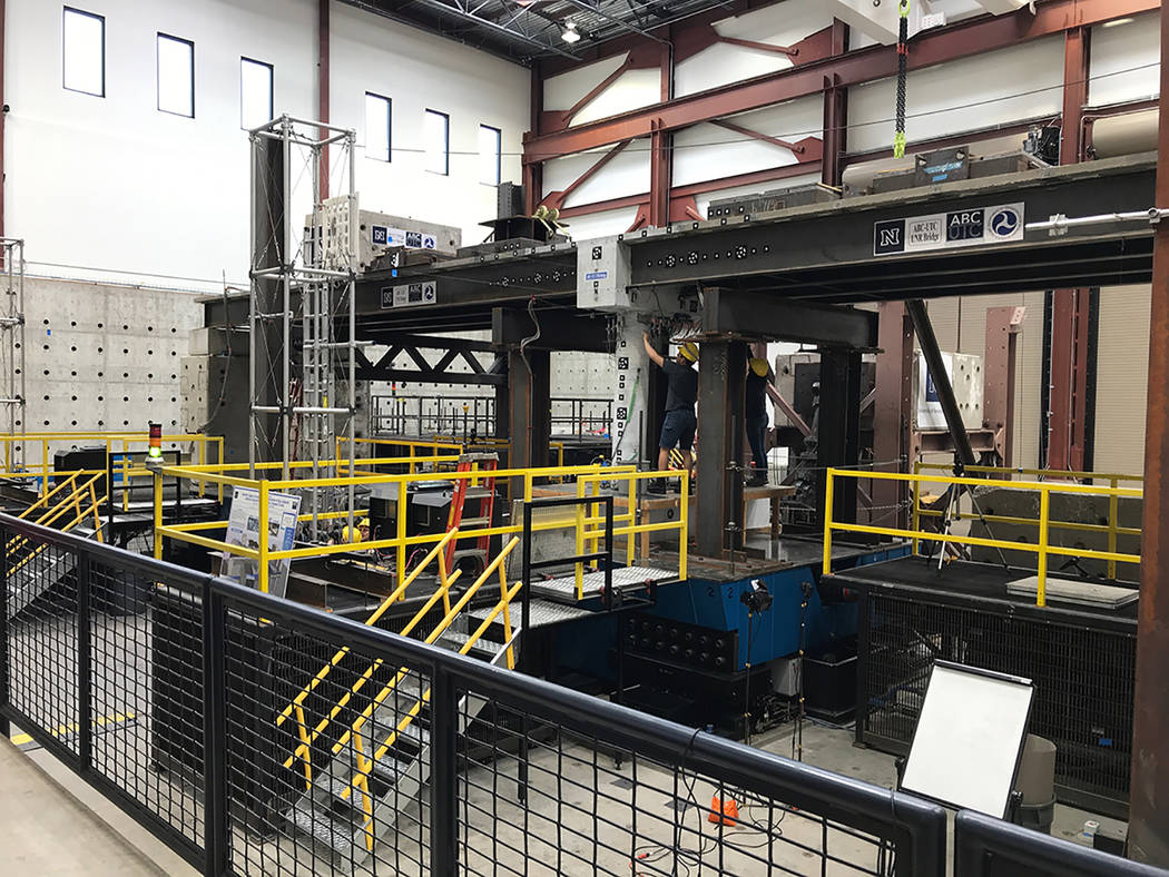 University of Nevada, Reno Combined accelerated bridge construction methods were proved safe and ready for real-world application following tests using massive shake tables in the University of Ne ...