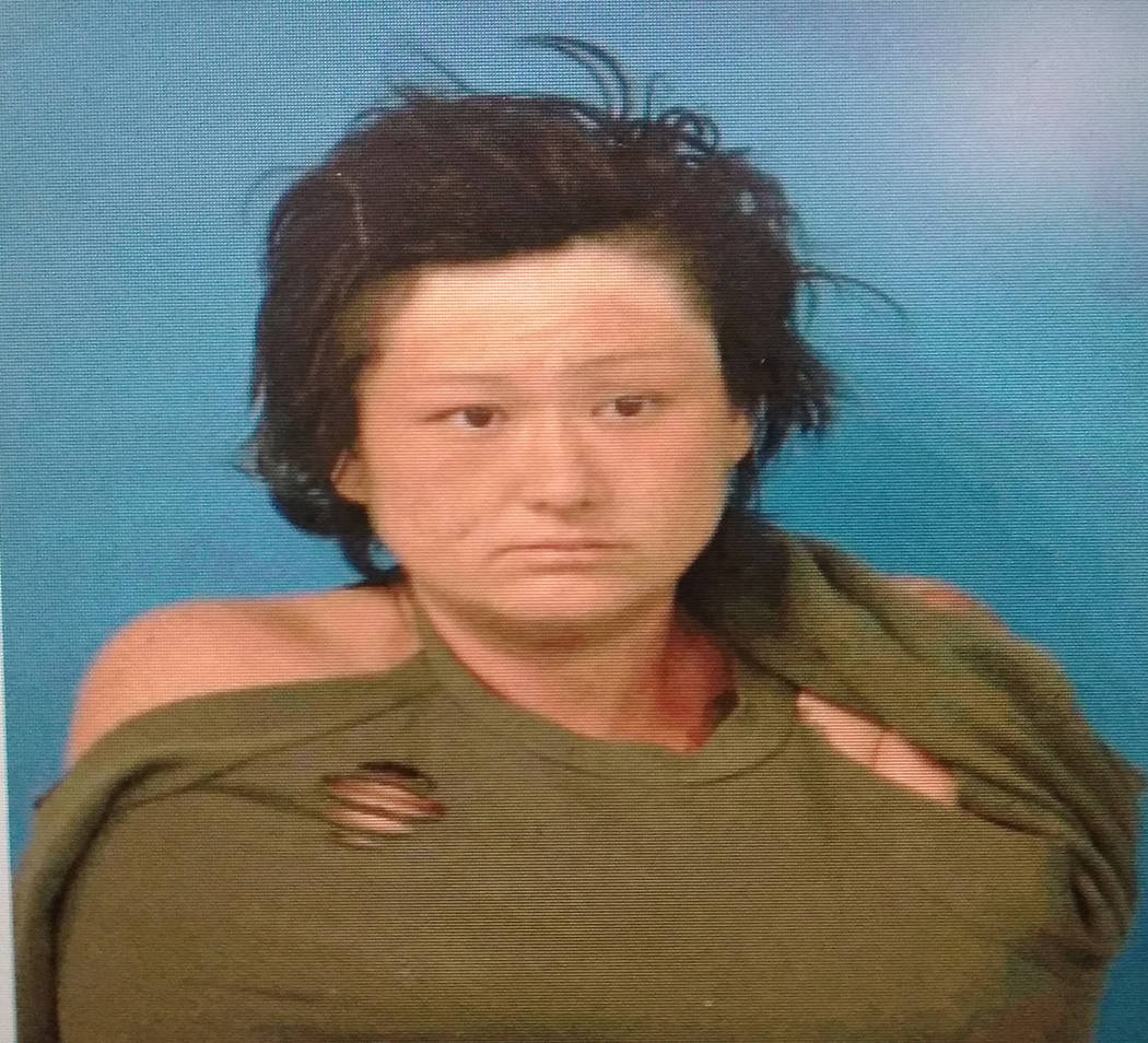 Special to the Pahrump Valley Times Brandy Howe was arrested after she was allegedly discovered sleeping nude inside an unoccupied home along Wilson Road last month. According to her arrest repor ...