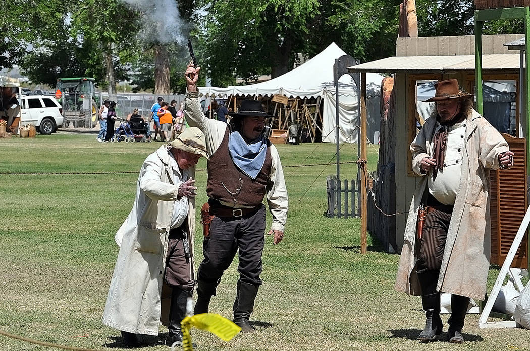 Horace Langford Jr./Pahrump Valley Times The Pahrump Gunfighters have always been a popular fixture at the Wild West Extravaganza and Bluegrass Festival. The group performed western-themed skits, ...