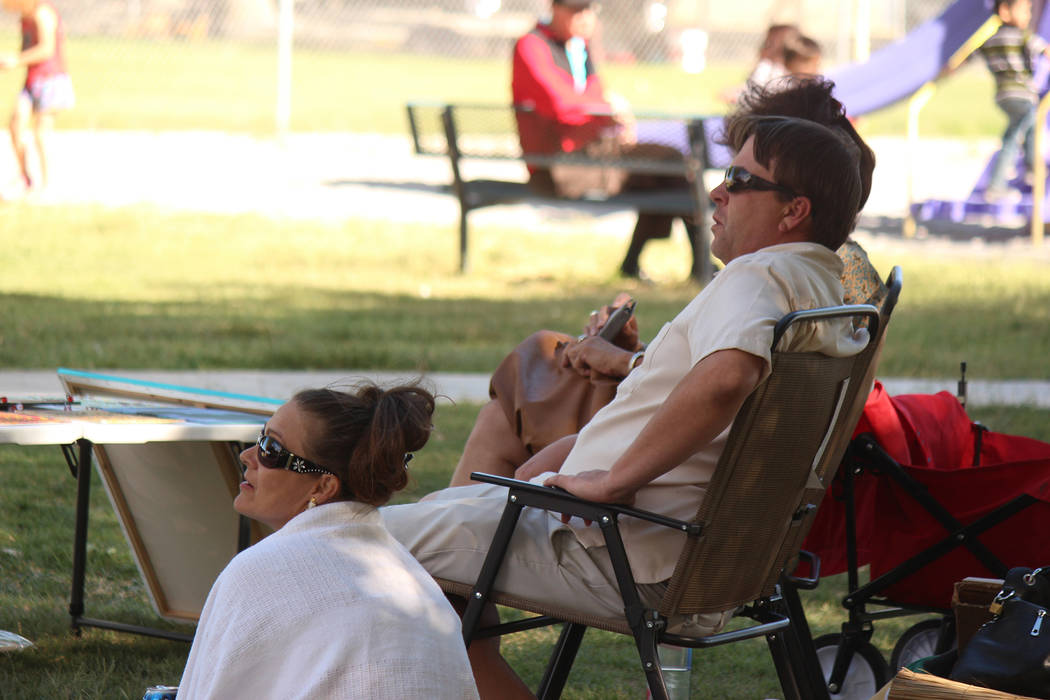 "Jeffrey Meehan/Pahrump Valley Times Attendees of the ""One Love"" music festival at Ian Deutch Memorial Park on May 12, 2018 listen to reggae and other music styles. Stan Rankin T performed along wi ..."