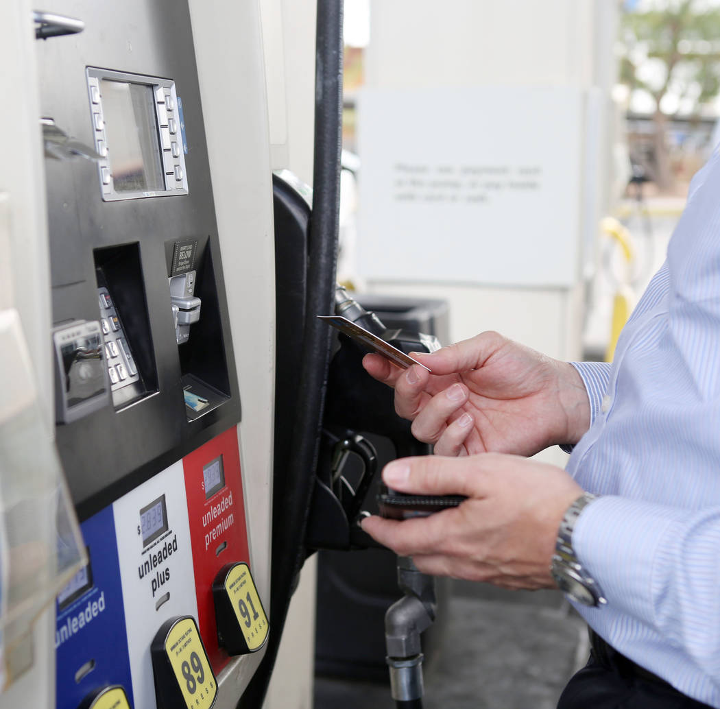 Elizabeth Brumley/Las Vegas Review-Journal file Motorists are seeing 19 percent of gas stations selling gas for $3.01 or more. Today's gas price is 16-cents more expensive than one month ago an ...