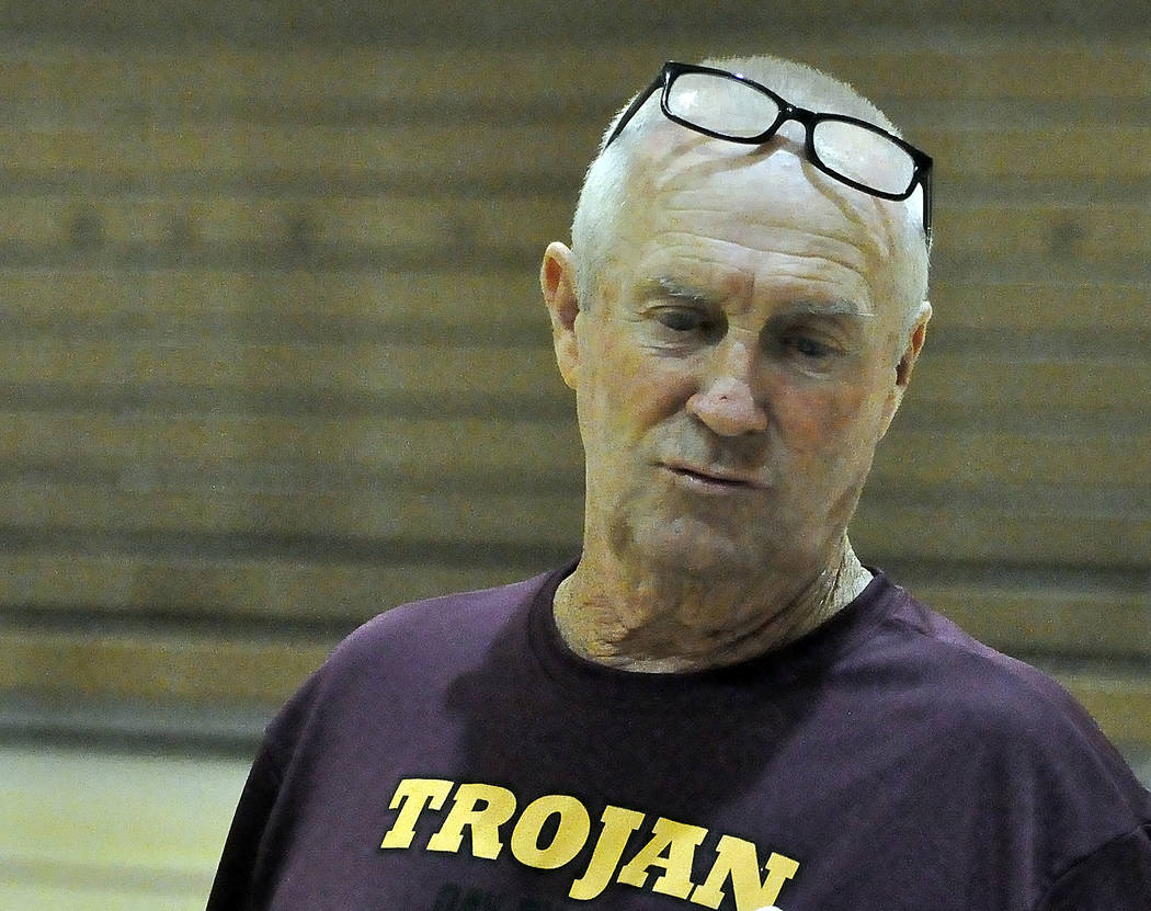Horace Langford Jr./Pahrump Valley Times Pahrump Valley girls basketball coach Bob Hopkins will conduct a basketball camp next week at the high school.