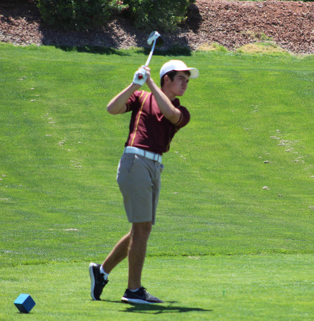 Tom Rysinski/Pahrump Valley Times Senior Craig Moore shot 169 to tie for 12th place at the Class 3A state championship held Monday and Tuesday at Mountain Falls.
