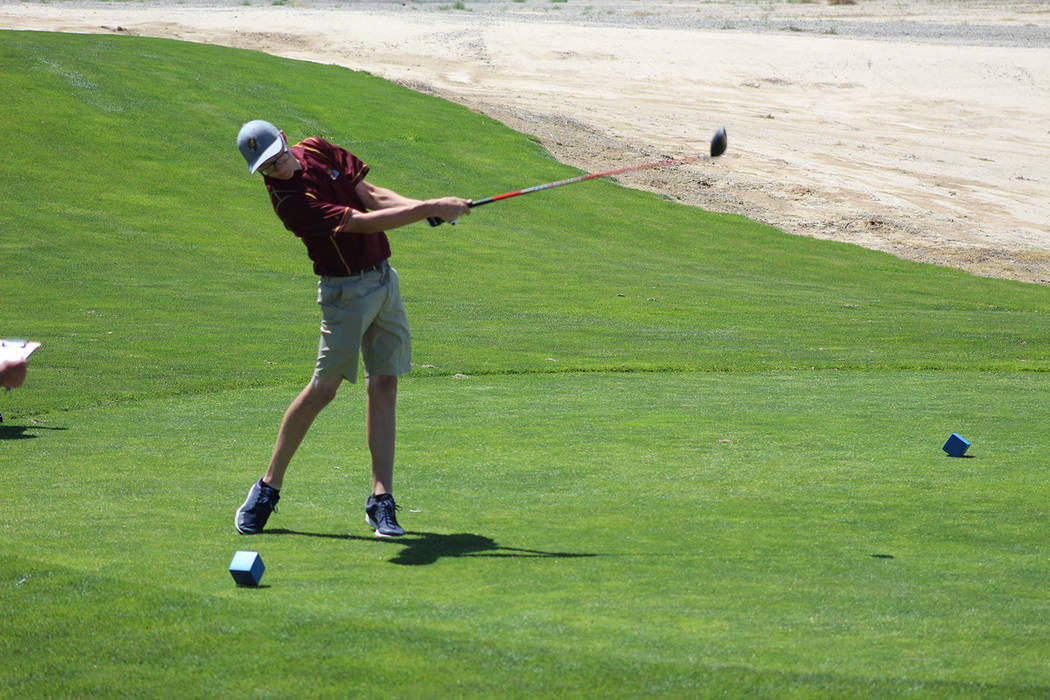 Tom Rysinski/Pahrump Valley Times Sophomore Kasey Dilger shot his best round of the season Tuesday at Mountain Falls, making four birdies during a second-round 85 at the Class 3A state championship.