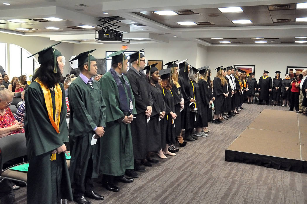 Horace Langford Jr./Pahrump Valley Times The Great Basin College graduation in Pahrump was held May 12 at Valley Electric Association's Conference Center. Here is a look at the graduates.
