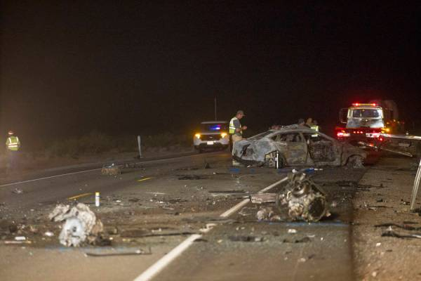 Fiery crash kills 5 in Nye County | Pahrump Valley Times