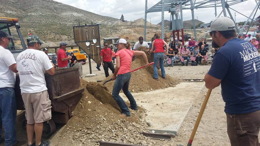 David Jacobs/Times-Bonanza A look at the Nevada State Mining Championships in Tonopah's Historic Mining Park in 2016. The event is part of Jim Butler Days again this year.