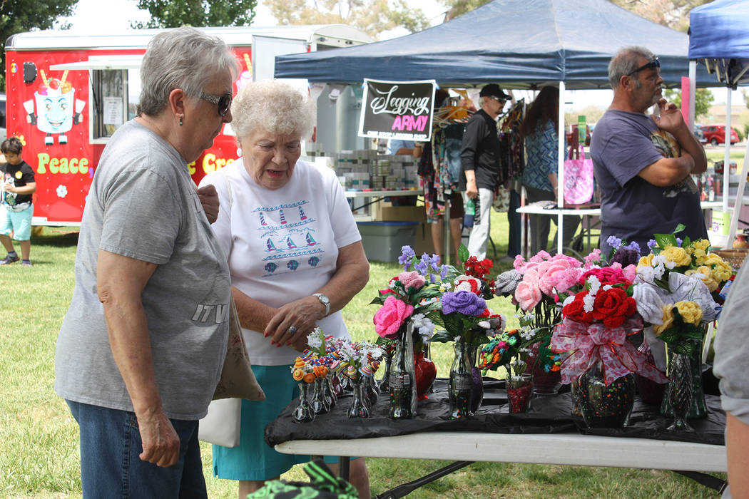Robin Hebrock/Pahrump Valley Times The 19th Art and Sol festival took place May 19 at the Calvada Eye, where attendees spent the day perusing through the vast quantity of hand-crafted items on sal ...