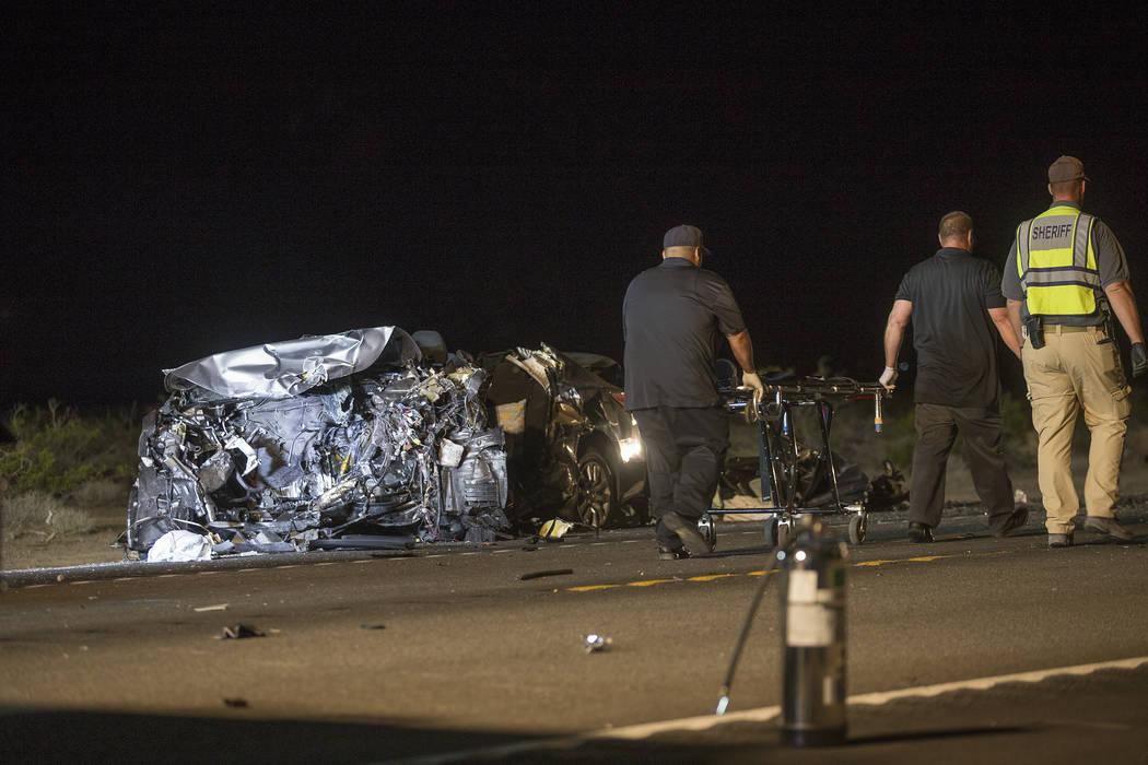 Pahrump man, California couple ID'd in U S  95 crash | Pahrump