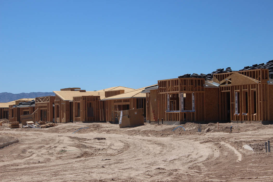 Jeffrey Meehan/Pahrump Valley Times William Lyon Homes' age-qualified Ovation community is pegged to have its first phase come online in June. The second phase of the project is set for August wit ...
