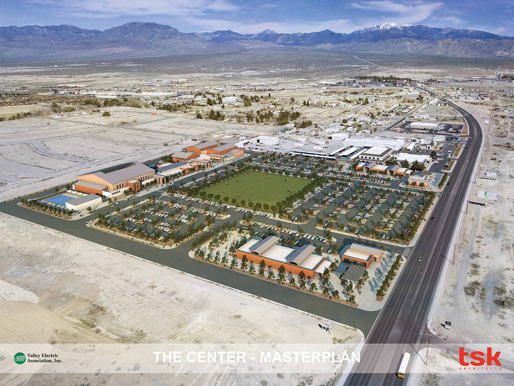 Special to the Pahrump Valley Times Pictured is a rendering of what was dubbed The Center during Valley Electric Association Inc.'s annual meeting at the end of April. A video representation of VE ...