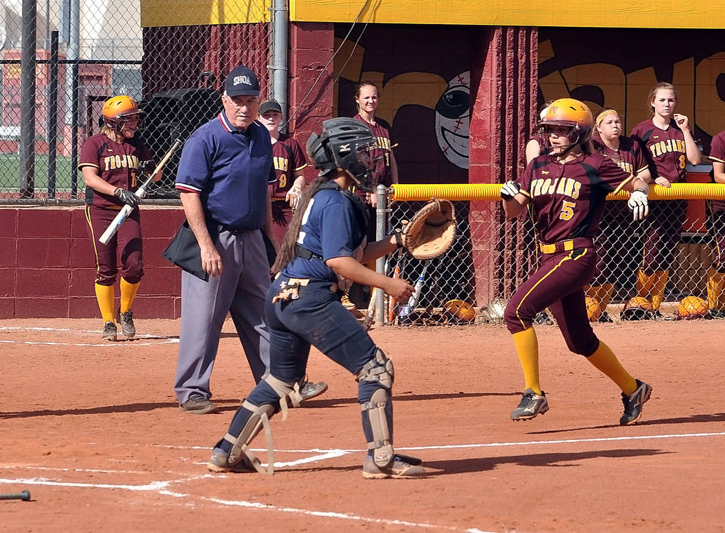 Horace Langford Jr./Pahrump Valley Times First-team Class 3A all-state selection Skyler Lauver finished her sophomore season at Pahrump Valley with a .575 batting average and 35 RBIs as the Trojan ...