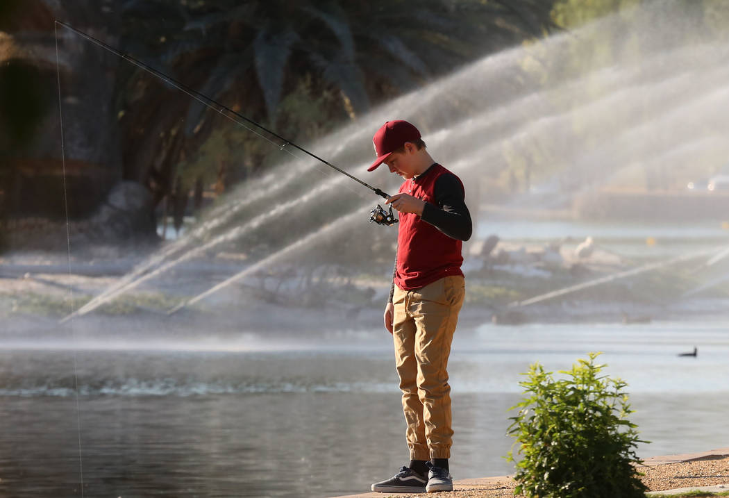 Bizuayehu Tesfaye/Las Vegas Review-Journal The Nevada Department of Wildlife is offering a Free Fishing Day on Saturday, the same day Nevada's state parks are waiving fees to encourage visits.