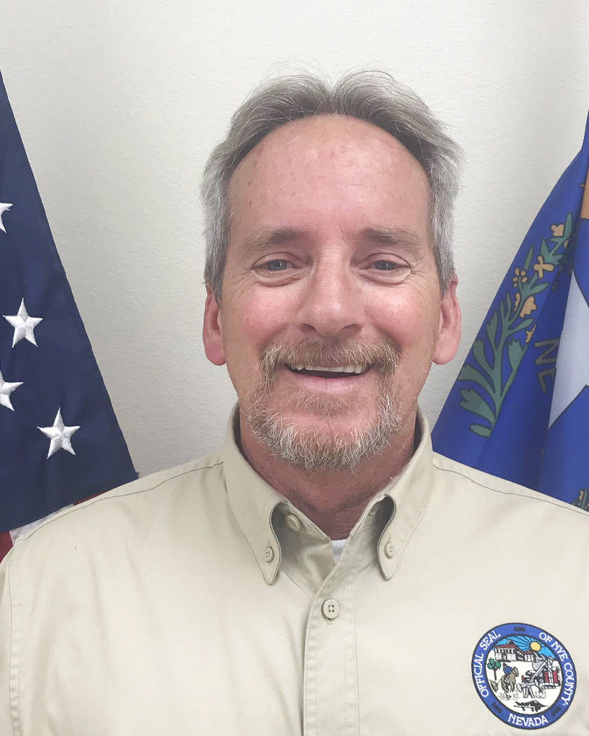 Special to the Pahrump Valley Times Nye County Public Works Director Tim Dahl was ratified in his new position in late May.