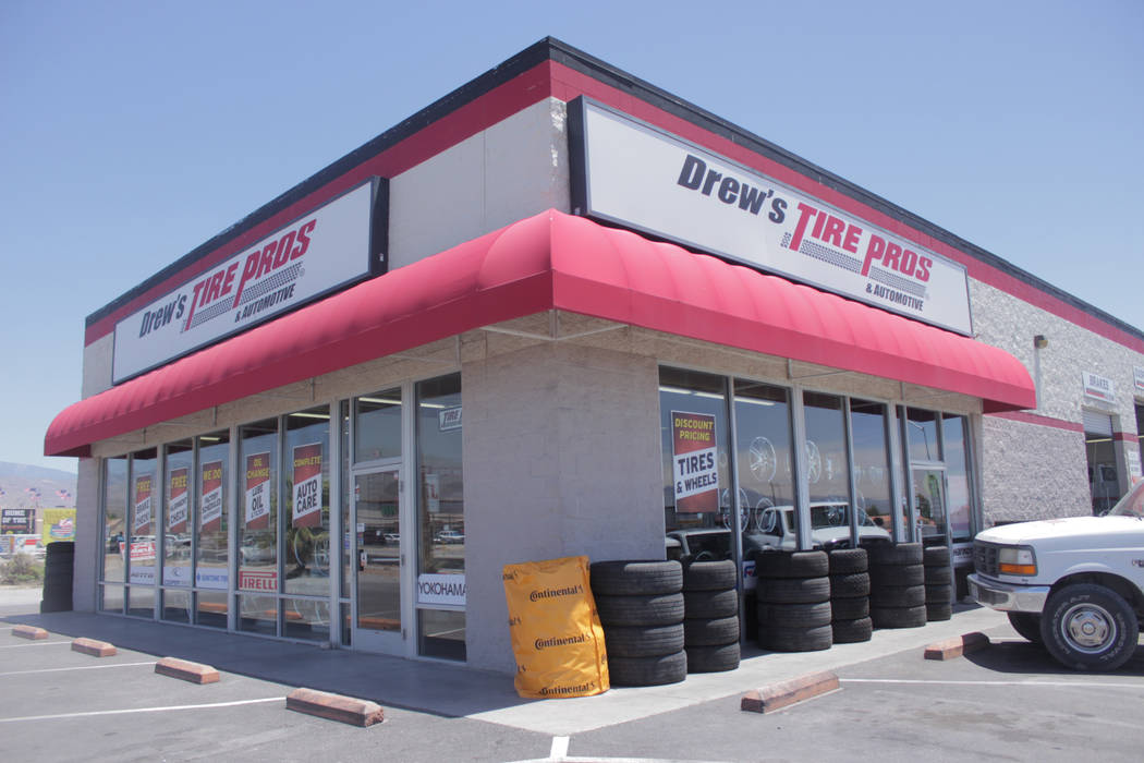 Jeffrey Meehan/Pahrump Valley Times A once Big O Tire store has shifted to a new label with ownership remaining the same. Drew's Tire Pros & Automotive at 1301 E. Highway 372 crossed over from the ...